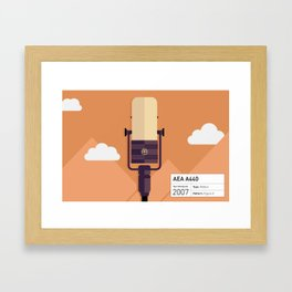 AEA A440 Microphone Illustration Print Framed Art Print
