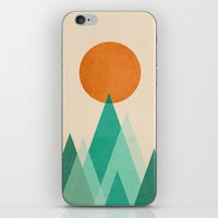 high iPhone & iPod Skins featuring No mountains high enough by Picomodi