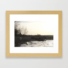 Kits Beach Sunset 1 Framed Art Print