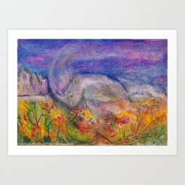 Rhino Wave Art Print