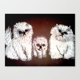 THREE LITTLE KITTENS Canvas Print