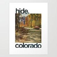 Hide Colorado Art Print