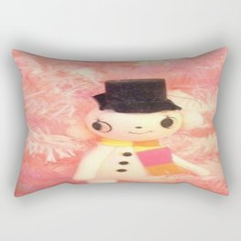 mr snow in the pink tree Rectangular Pillow