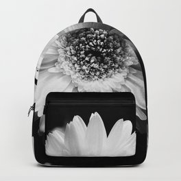 Flowers in Black and White - Nature Vintage Photography Backpack