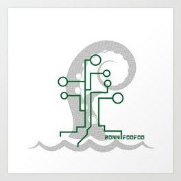 Data Kraken Art Print