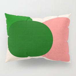 Living Coral Green Vintage Mod Circles Pillow Sham