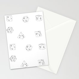 D&D Dungeon Master Pattern Stationery Cards