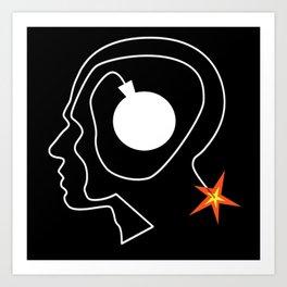 Mind Bomb Art Print