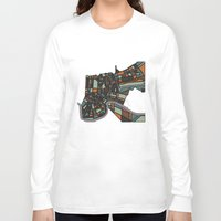 new orleans Long Sleeve T-shirts featuring New Orleans by BigRedSharks