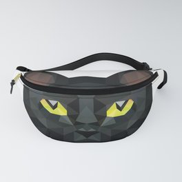 Low Poly Black Cat | Low Poly Art Fanny Pack
