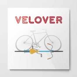 VeLover – Shadow – June 12th – 200th Birthday of the Bicycle Metal Print
