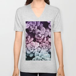 Dreamy Succulents #1 #pastel #decor #art #society6 Unisex V-Neck