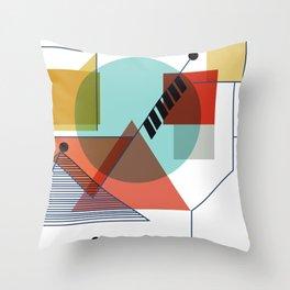 Bauhaus Kandinsky Modern Art Throw Pillow