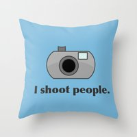 humor Throw Pillows featuring Photography Humor by Murphis the Scurpix