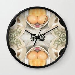 早餐 - BREAKFAST (HALF BOILED EGG,TOAST AND COFFEE BLACK) Wall Clock