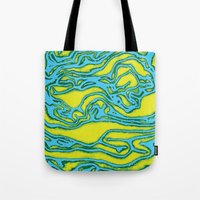 lime green Tote Bags featuring Lime by Mario Metzler