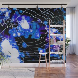 Spider Love Blues Wall Mural