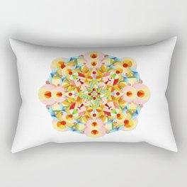 Pastel Carousel Mandala Rectangular Pillow
