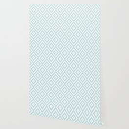 Aztec Block Symbol Ptn Blue & White II Wallpaper