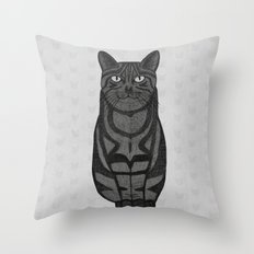 Sly Cat Throw Pillow
