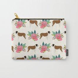Saint Bernard florals dog breed floral bouquet dog pattern minimal pet friendly Carry-All Pouch
