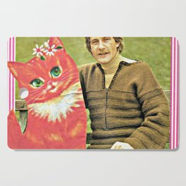 Guys Who Love Cats handcut collage Cutting Board
