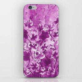 Purple Wild Flowers iPhone Skin