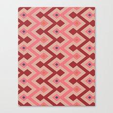 Kilim in pink Canvas Print