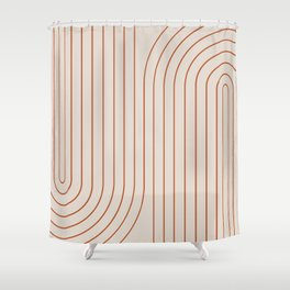 Minimal Line Curvature - Coral II Shower Curtain