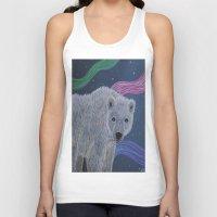 polar bear Tank Tops featuring Polar Bear by Renee Trudell