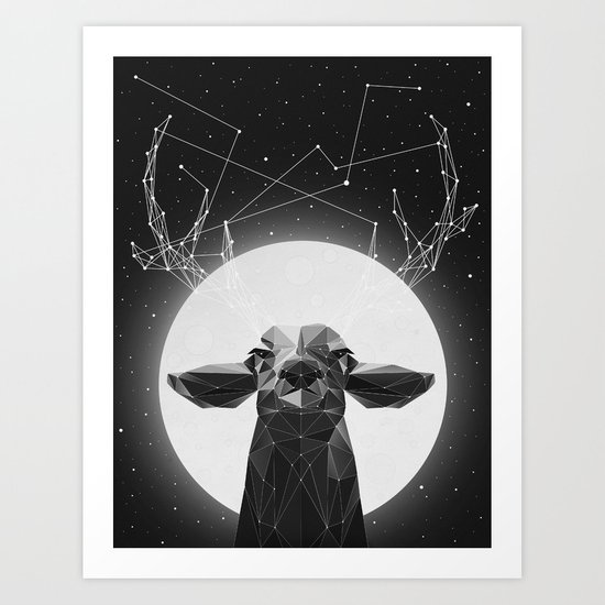 The Banyan Deer Art Print