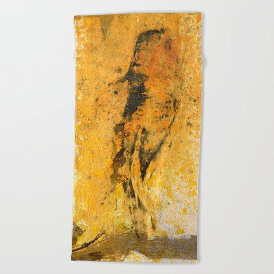 道の金 (Way of Gold) Beach Towel