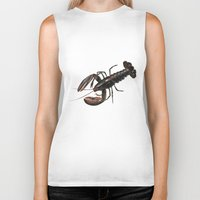 lobster Biker Tanks featuring Lobster by Trinity Mitchell