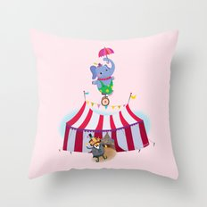 holy high wire! Throw Pillow