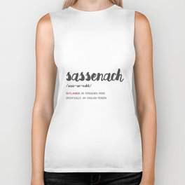 Outlander Sassenach Definition Biker Tank