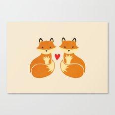 Love foxes Canvas Print