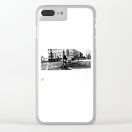 Copenhagen's streets in black and white 2 Clear iPhone Case