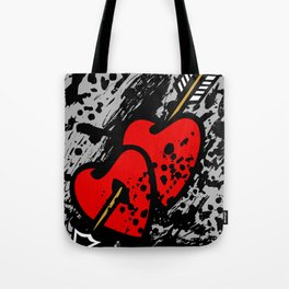 Hearts pierced with an arrow Tote Bag