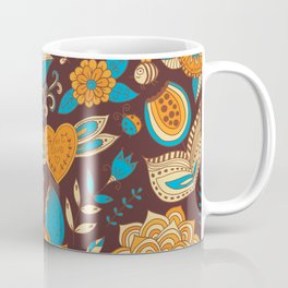 Floral Khokhloma pattern Coffee Mug