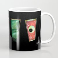 monsters inc Mugs featuring Monsters by Pao Designs