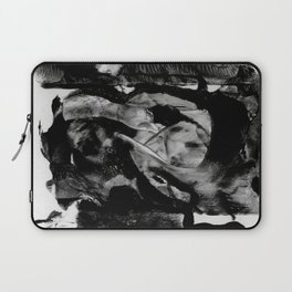 Black Abstract Rectangles Laptop Sleeve