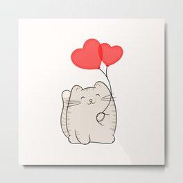 Eli, the love cat Metal Print