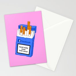 Social media cause brain cancer Stationery Cards