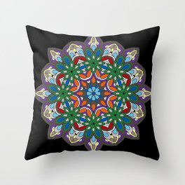 Mandala colorida Throw Pillow