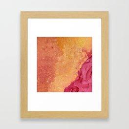 Orange hues Framed Art Print