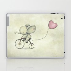 Cute Elephant riding his bike Laptop & iPad Skin