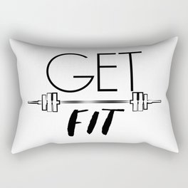 """ Fitness Collection "" - Get Fit Rectangular Pillow"