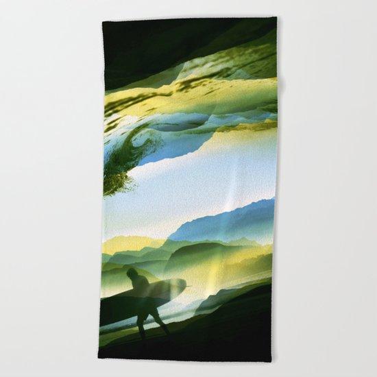 Sunny Surf Beach Towel