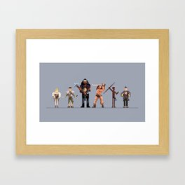 Conan the Pixelated Framed Art Print