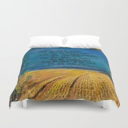 Farmers Blessing by Seattle Artist Mary Klump Duvet Cover
